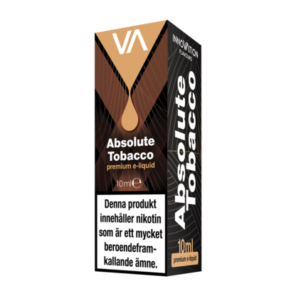 INNOVATION Absolute Tobacco e-juice has a tobacco flavour with caramel aftertaste.