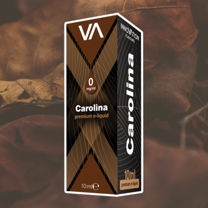 INNOVATION Carolina vape juice has a Turkish tobacco taste mixed with a hint of slightly perceivable caramelized sugar aroma.