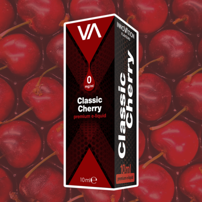 INNOVATION Classic Cherry vape juice lets you enjoy a robust, fruity flavour with the taste of delicious fresh cherries.