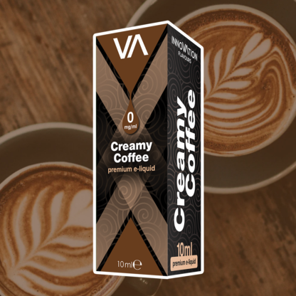 INNOVATION Creamy Coffee vape juice an aromatic coffee & cream taste, strong and distinct aftertaste.
