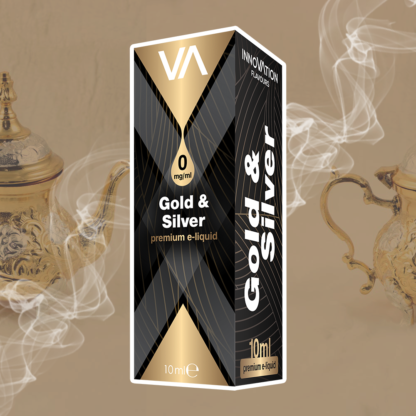 INNOVATION Gold & Silver E-juice has a strong flavour of traditional English tobacco and black tea aftertaste.