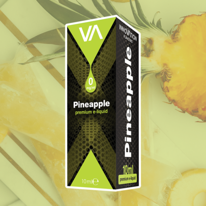 INNOVATION Pineapple E-juice Sweet juicy pineapple with a mild cocktail aftertaste.