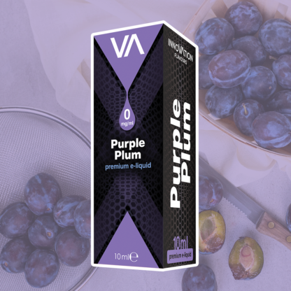 INNOVATION Purple Plum E-liquid with plum flavour. Slight sweet taste and good finish. Soft smoke notes.