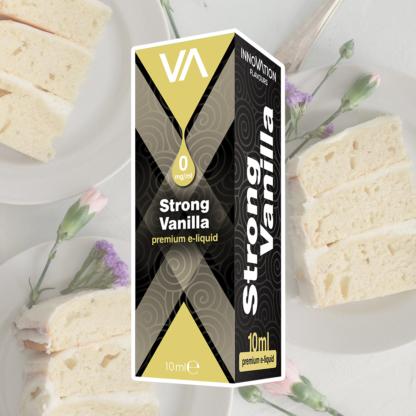 INNOVATION Strong Vanilla E-juice has a mild French vanilla and cream taste, lasting aftertaste.