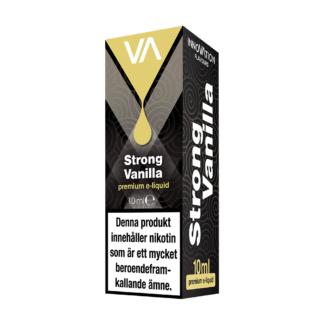 INNOVATION Strong Vanilla E-juice has a mild French vanilla and cream taste, lasting aftertaste.