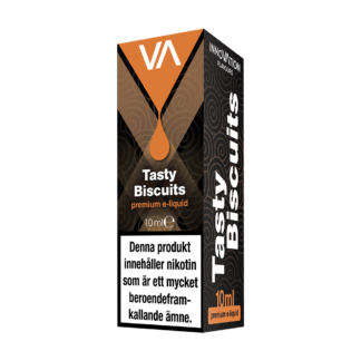 INNOVATION Tasty Biscuits E-juice has a distinct cinnamon, cookie taste, strong cinnamon aftertaste with a hint of coffee.