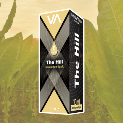 INNOVATION The Hill E-juice has a raw tobacco taste with an added liqueur aftertaste.